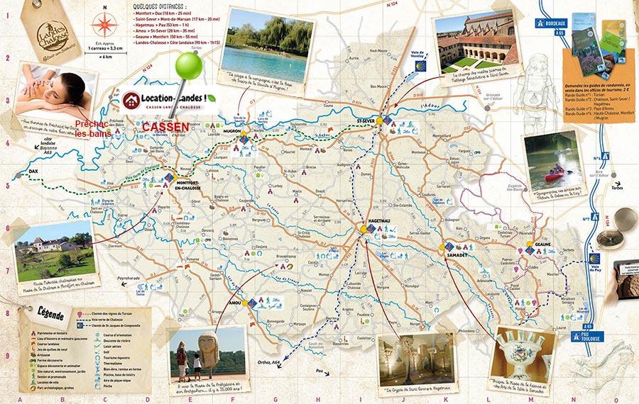 carte touristique pour location particulier